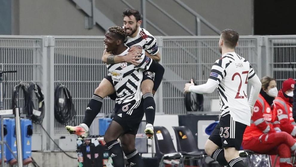 Un gol de Pogba en su regreso clasifica al United en San Siro