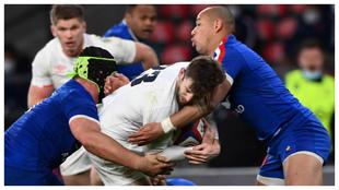 Una imagen del Inglaterra-Francia disputado recientemente en...