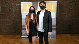 Astrid Fina y Marc Galver en la presentación del documental en Madrid