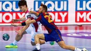 Aleix Gómez, en el último partido de la fase de grupos del Barça...