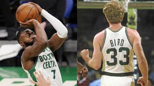 Jaylen Brown y Larry Bird, dos aleros para la historia de los Celtics