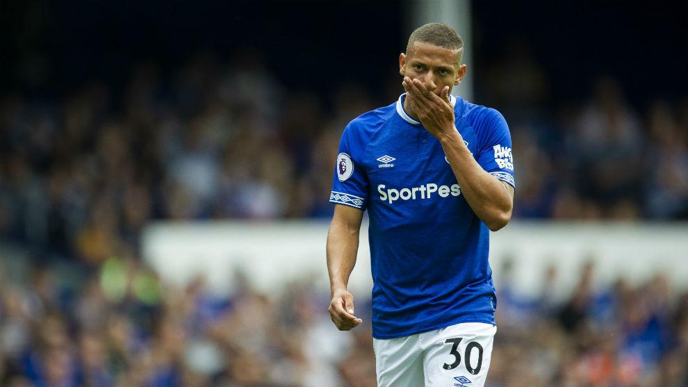 Richarlison en un partido de esta temporada con el Everton.
