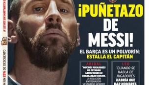 La portada de MARCA el día posterior a las palabras de Messi.