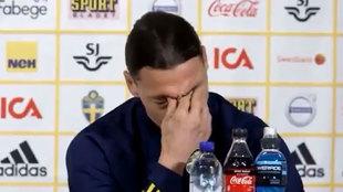 Ibra rompe a llorar ante la prensa al acordarse de su hijo
