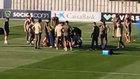 Susto tremendo: Dembélé se desmaya en pleno entrenamiento