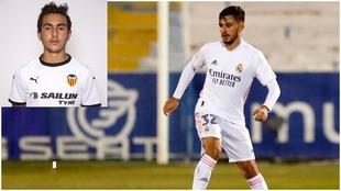 Mark Chust (con el Valencia) y su hermano Víctor, con el Real Madrid.