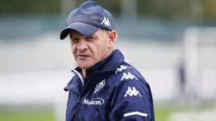 Giuseppe Iachini, durante un entrenamiento de la Fiorentina