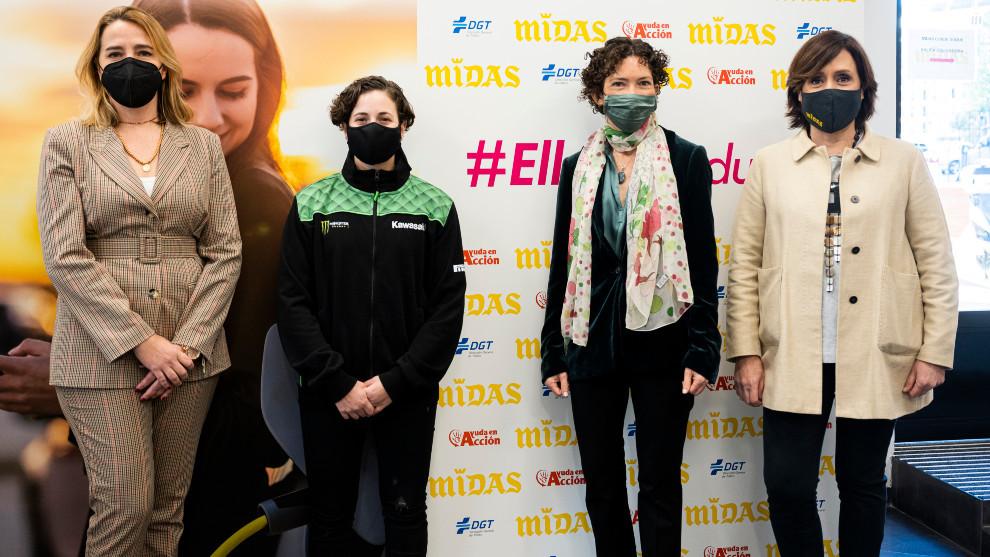 María José Aparicio (DGT), Ana Carrasco, Marta Marañón (Ayuda en Acción) y Patricia Suárez (Midas).
