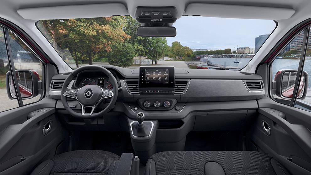 Interior del Renault Trafic Combi