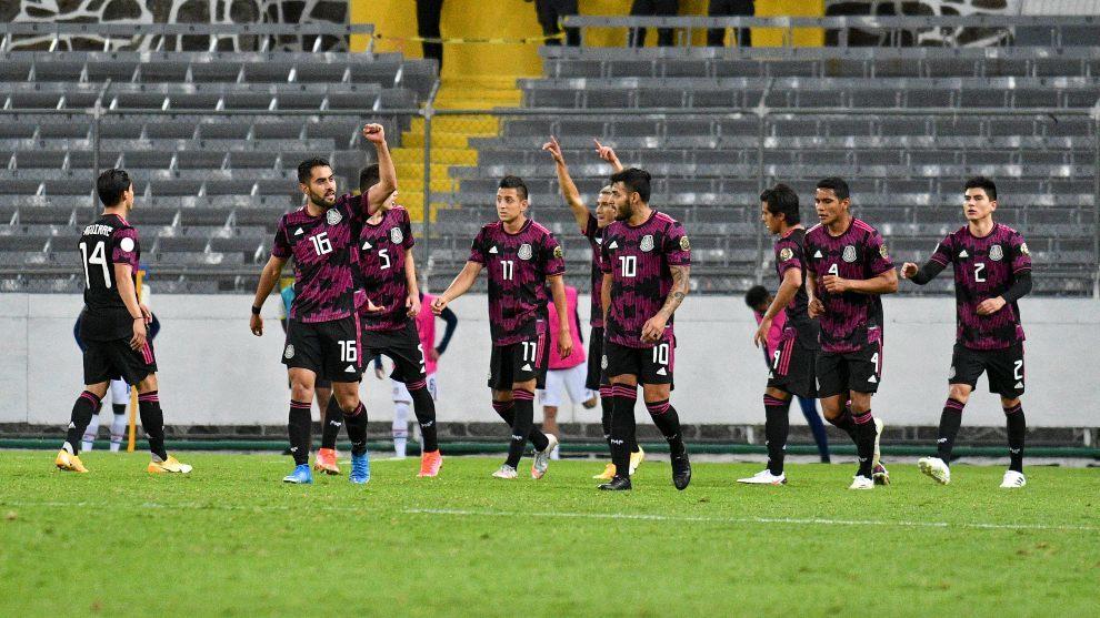 La selección mexicana sub 23 tras vencer a Estados Unidos.