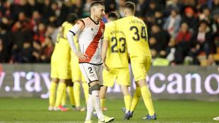 Tito, durante un Rayo-Villarreal de copa del Rey de la 2019-20