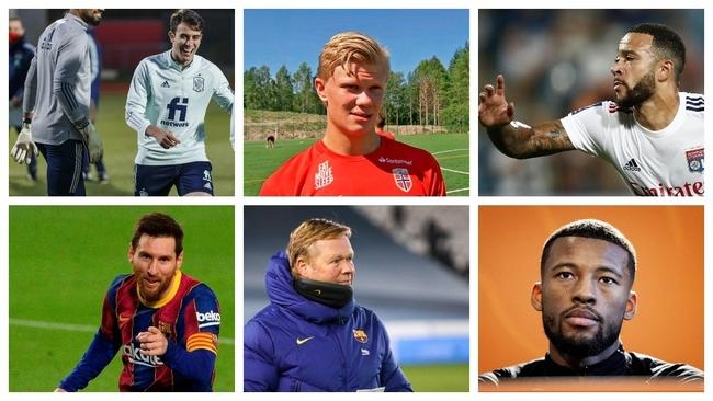 Eric García, Haaland, Depay, Messi, Koeman y Wijnaldum