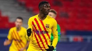 Ousmane Dembélé celebra un tanto esta temporada.