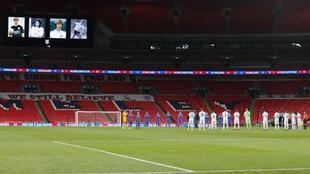 Panorámica de Wembley durante el Inglaterra-San Marino.