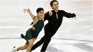 Sara Hurtado y Kirill Jalyavin, en el Mundial.