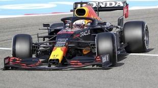 Max Verstappen, durante los Libres 3 del GP de Bahréin.