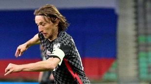 Modric, con Croacia.