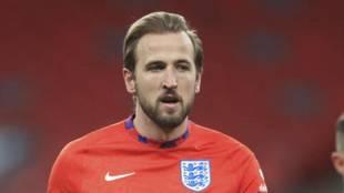 Harry Kane, en un entrenamiento con Inglaterra