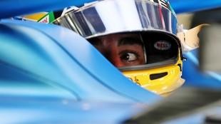 Fernando Alonso en la carrera de hoy.