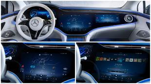 MBUX Hyperscreen: así es la pantalla de 141 cm del Mercedes EQS