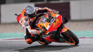 Pol, durante el GP de Qatar.