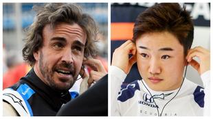 Fernando Alonso y Yuki Tsunoda.