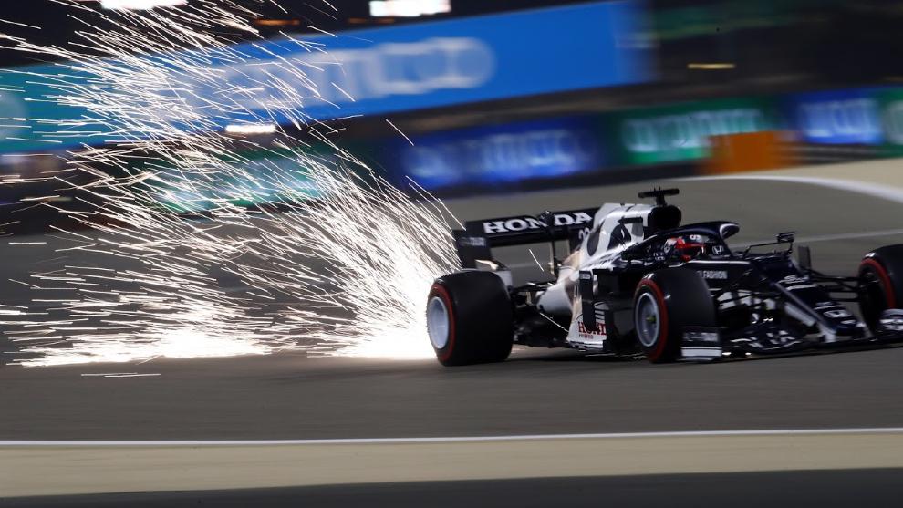 Tsunoda, durante el GP de Bahréin.