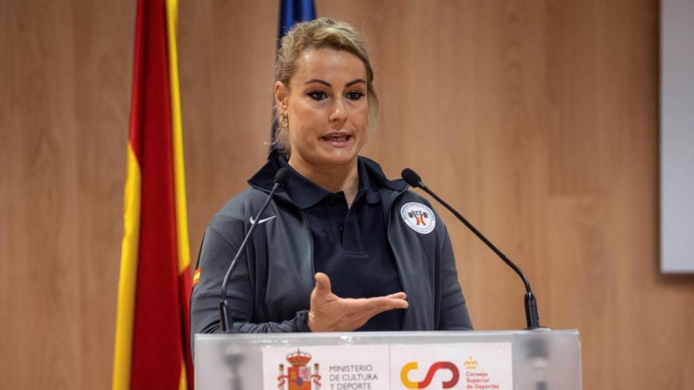 Lydia Valentín durante su intervención en el CSD.