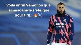 Storie del Instagram de Benzema