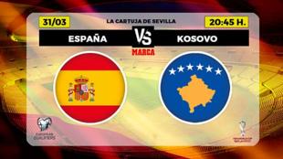 Alineacion España y Kosovo - Alineaciones partido clasificacion...