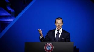 El presidente de UEFA, Aleksander Ceferin.
