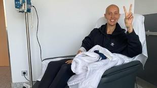 Virginia Torrecilla durante unas pruebas médicas en el hospital.