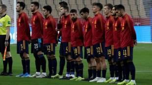 Los once jugadores de España titulares ante Kosovo