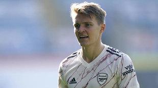 Odegaard, con el Arsenal.