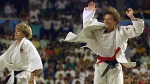 Miriam Blasco, tras el final del combate que le valió el oro