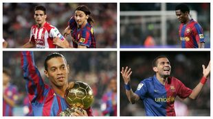 Ibrahimovic, Etoo, Ronaldihno y Alves
