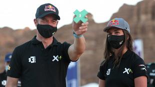 Cristina Gutiérrez y Sebastien Loeb