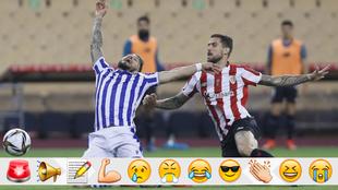 La acción del penalti de Iñigo con Portu