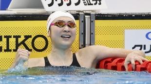 Rikako Ikee celebra su clasificación para los Juegos de Tokio.