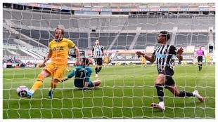 Harry Kane marca a puerta contra el Newcastle.