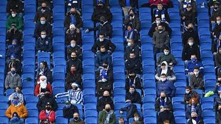 Fans in Brighton during the Christmas matches