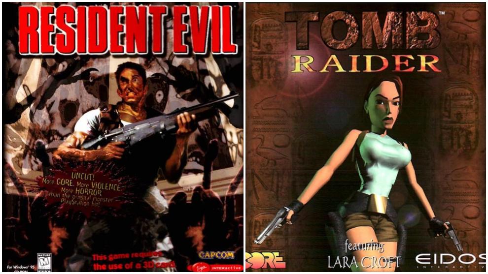 Portadas de Resident Evil y Tomb Raider (1996)