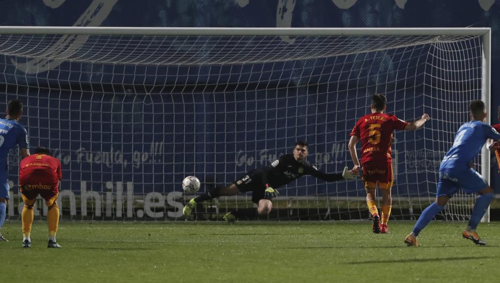 Tejero marca el gol del triunfo del Zaragoza... desde el punto de...