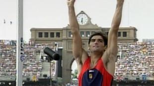 Javier García Chico, en Montjuic.