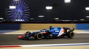 Alonso, en el circuito de Sakhir.