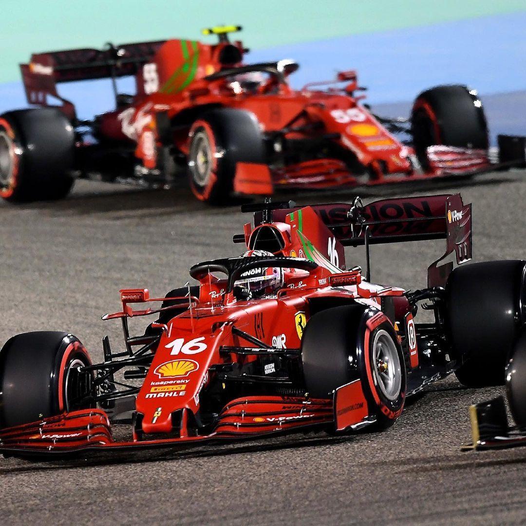 Leclerc y Sainz, en pista.