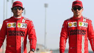 Sainz y Leclerc.
