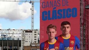 El montaje que ha realizado el Barcelona en sus redes sociales.