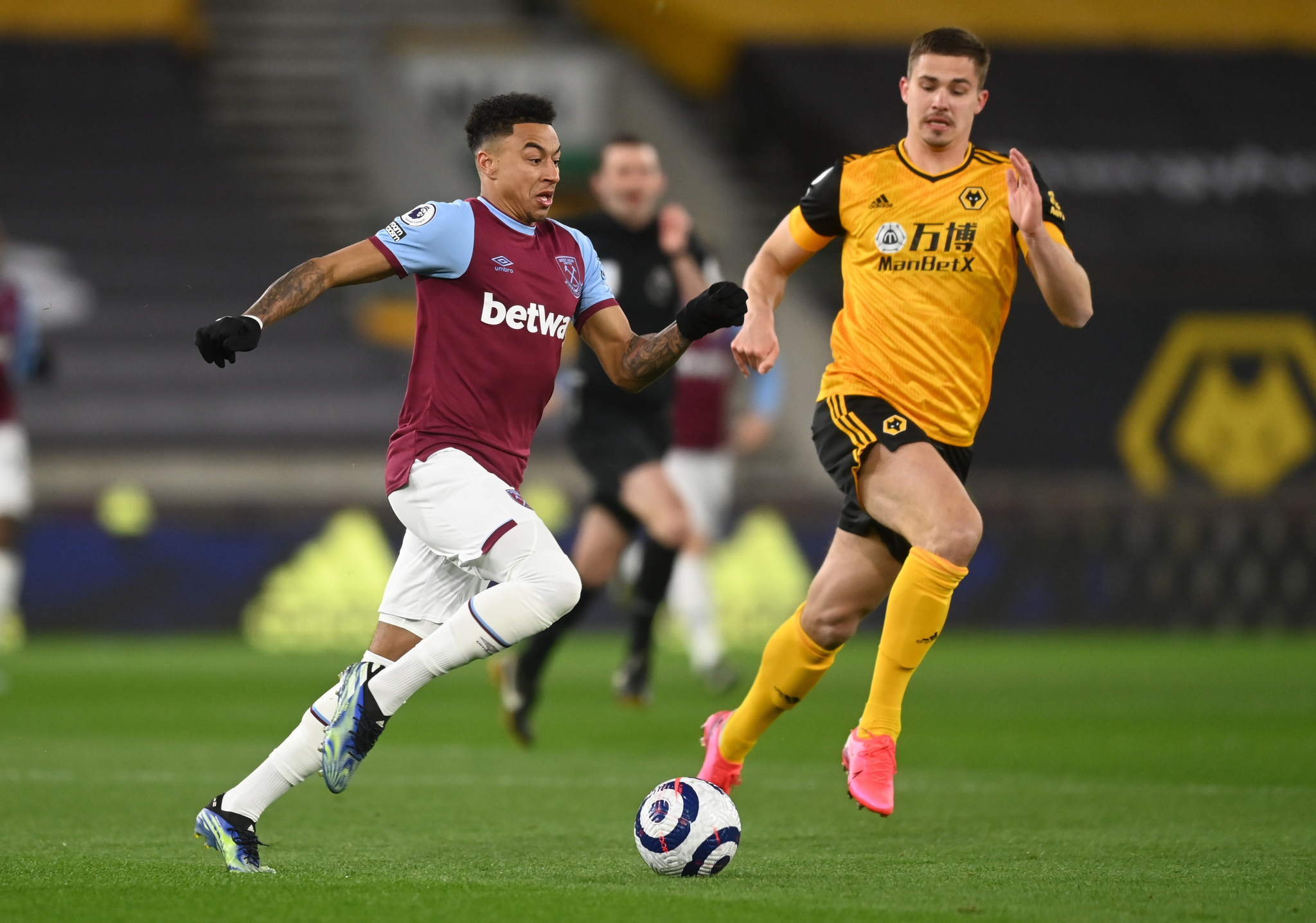 Jesse Lingard during West Ham's 3-2 win away at Wolves.