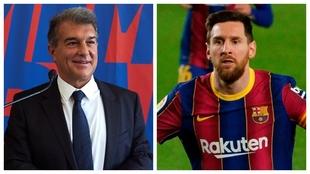 Joan Laporta y Leo Messi